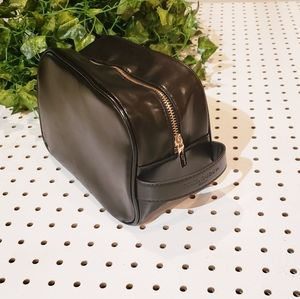 Dolce and Gabbana Black Gold Zip Makeup Bag
